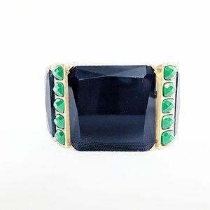 💥3 for $25💥 Chunky Navy Blue/Green/Gold Bracelet